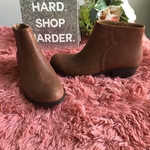 Lucky Brand Balexa Leather Ankle Boots Booties